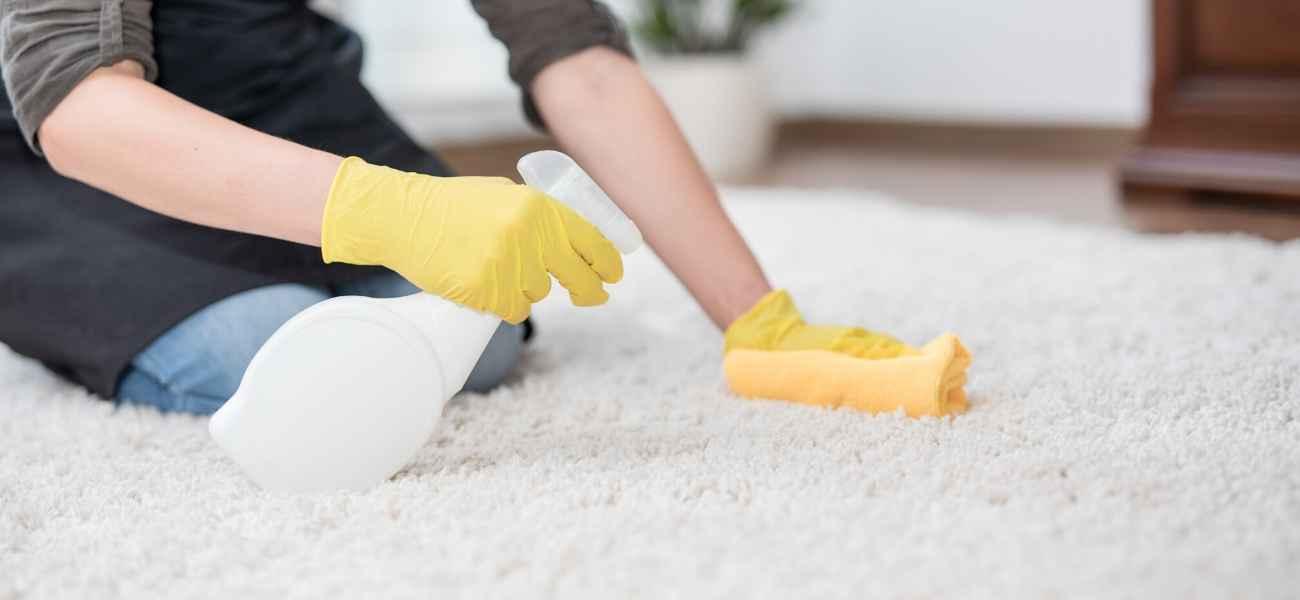 שטיח לבן נקי
