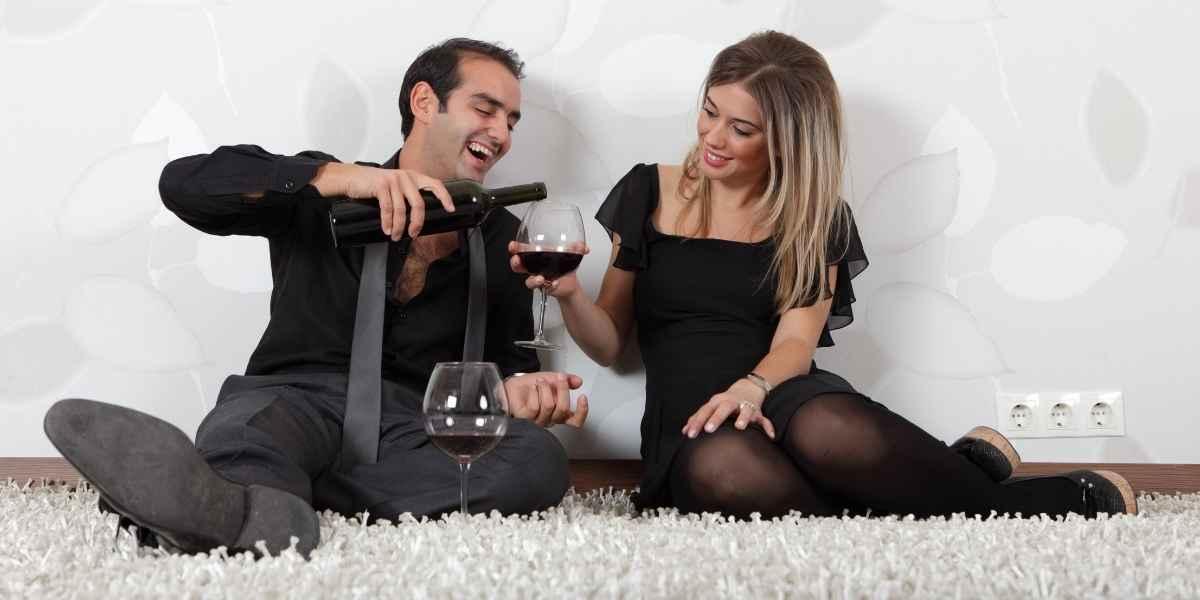 יין על שטיח