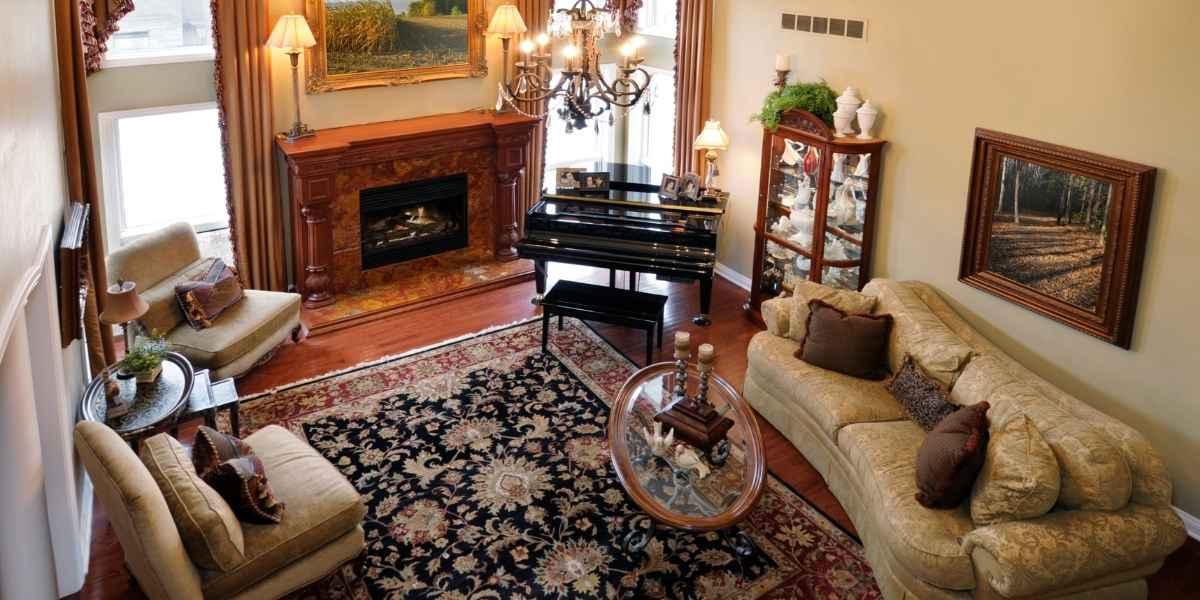 שטיח פרסי בחדר